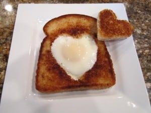 Valentine's Toast and Egg