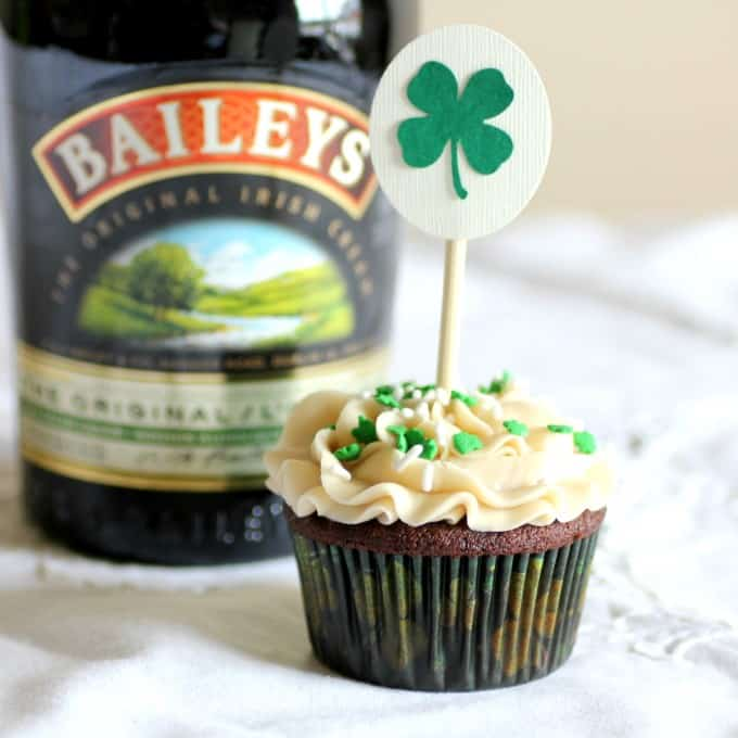 Chocolate Cupcake with Bailey's Buttercream Frosting