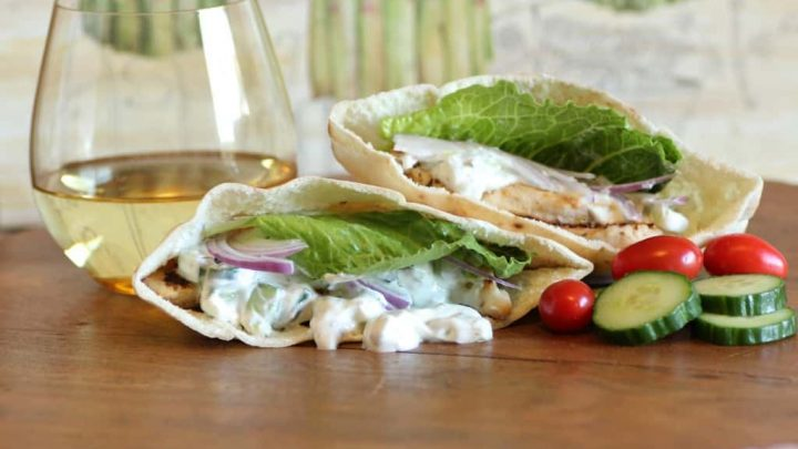 Chicken Gyros with Yogurt Dill Sauce