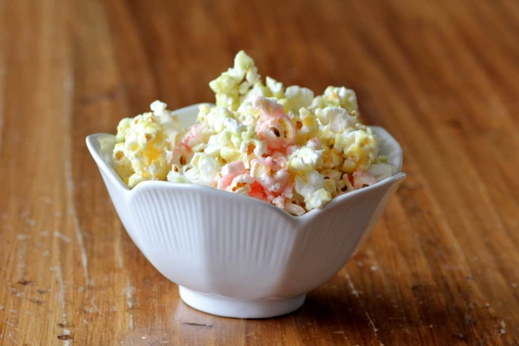 Tri-colored popcorn