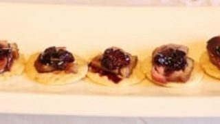Smoked Duck with a Cherry Compote