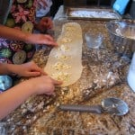 Making the ravioli
