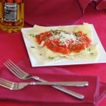 Cheese Ravioli with a Red Pepper Tomato Sauce