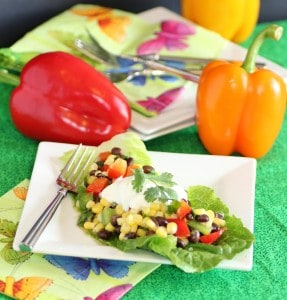 Corn and Black Bean Salad with Cumin Lime Dressing