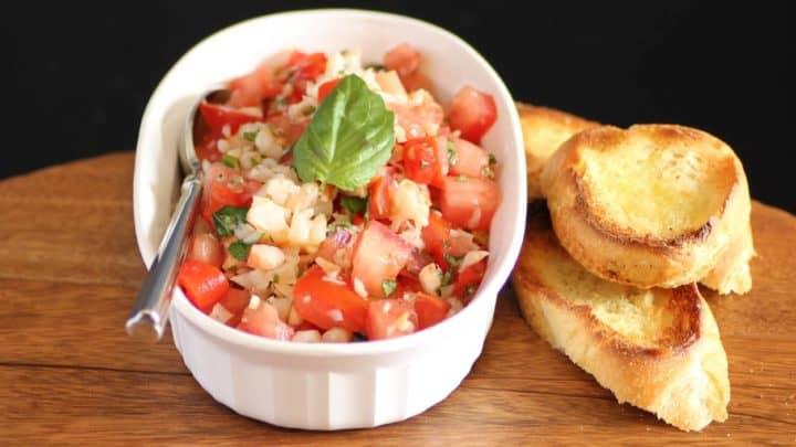 Tomato Shrimp Bruschetta
