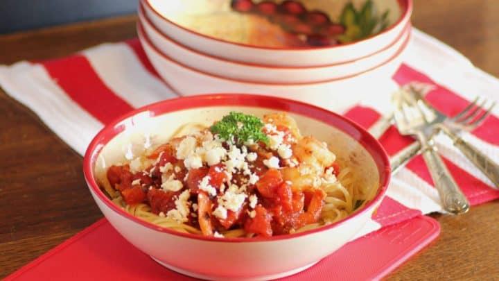 Shrimp and Feta Pasta