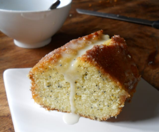 Citrus Cake with Limoncello Glaze by Vintage Kitchen Notes