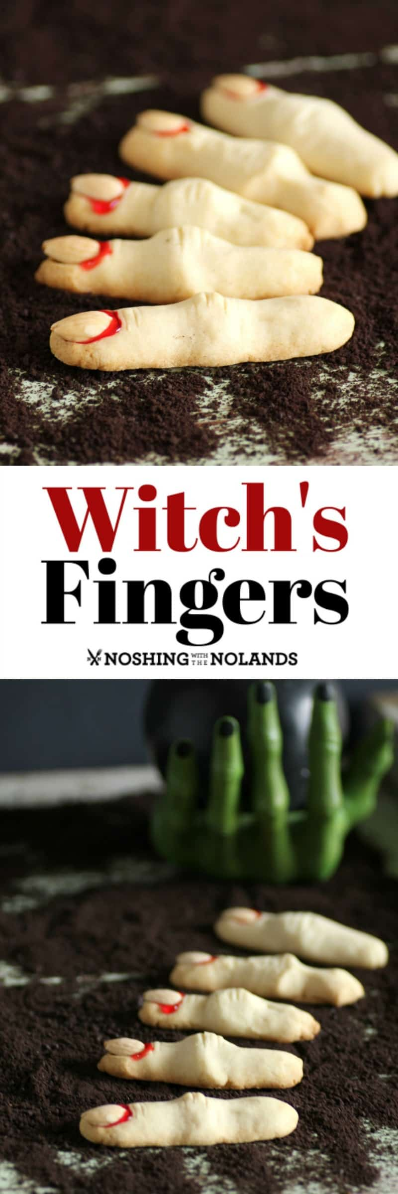 Witch's Fingers are the perfect Halloween cookie, they are frightfully good! #halloween #cookies