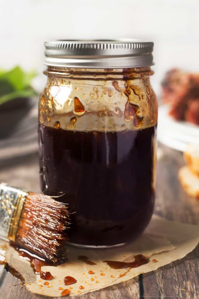 Grill glaze in a jar