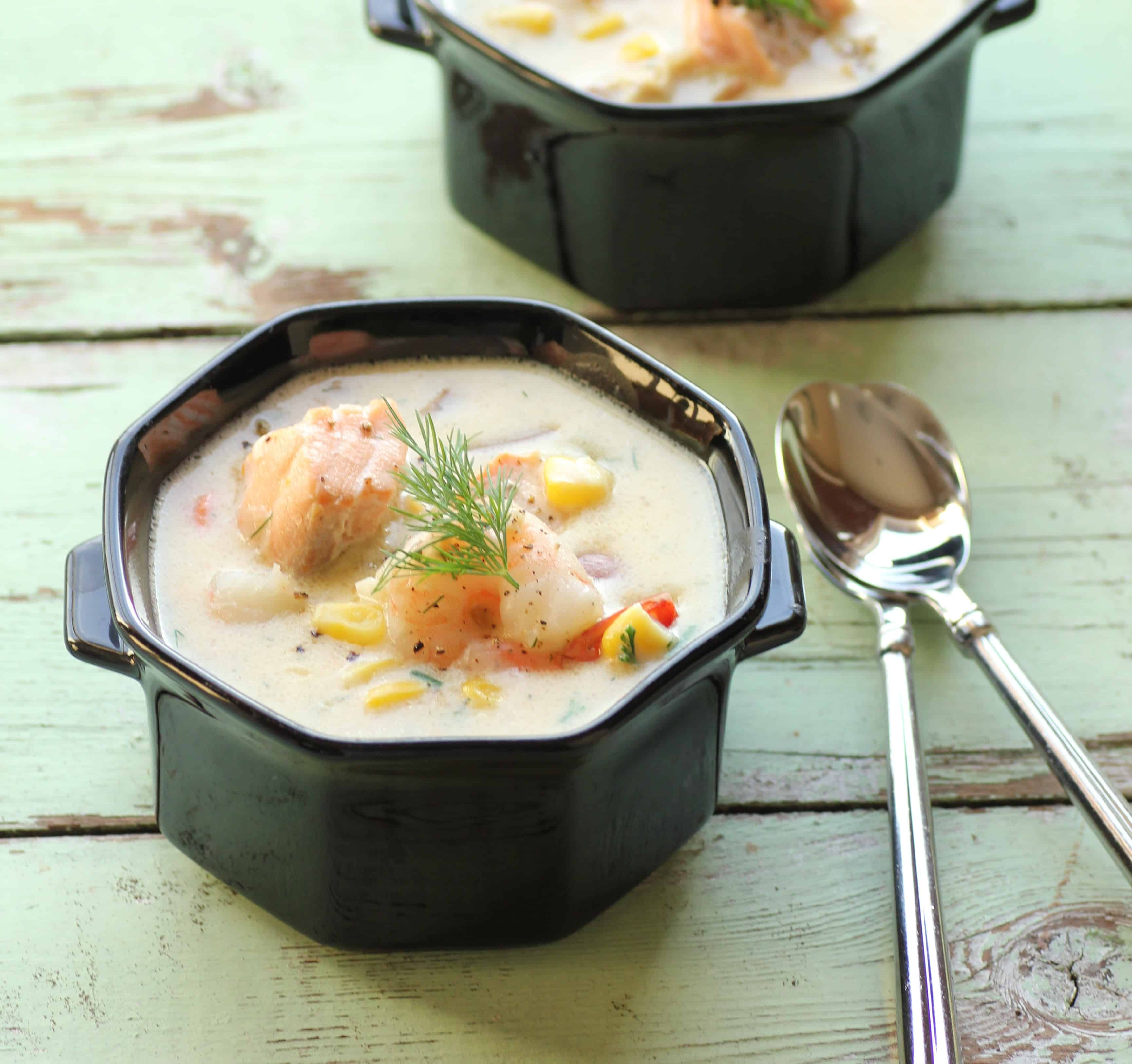 Seafood Chowder for Soul Warming at #Sunday Supper