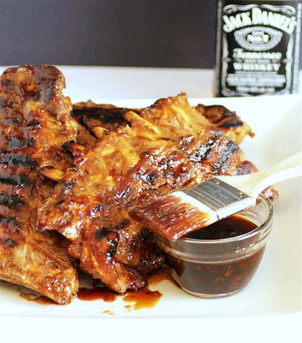 Old phott of ribs and the grill glaze