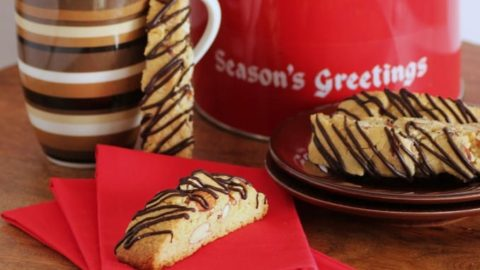 Amaretto Almond Biscotti for Holiday Cookie Exchange #SundaySupper