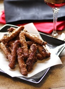 Sticky Mustard and Ginger Cocktail Sausages by Girlichef