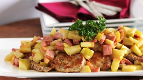12 Days of Christmas-Michael Symon's Pork and Apple Scallopini for Favorite Celebrity Chef #SundaySupper