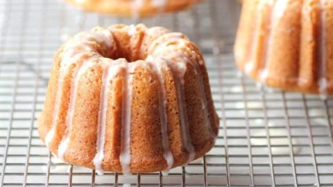 Mini Orange Bundts with a Grand Marnier Glaze for Tangy January #BundtaMonth