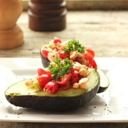 Avocado Tomato Boats