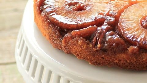 Pineapple Upside Down Cake for Retro Recipes Then and Now #SundaySupper