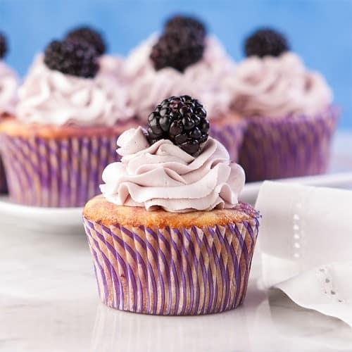 Blackberry Lemon Cupcakes