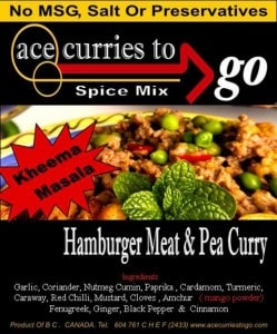 Hamburger Meat and Pea Curry