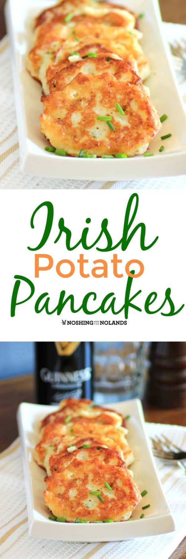 These Irish Potato Pancakes have been a favorite of mine since I was young and my Irish grandmother would make them for me. #potatopancakes #Irish