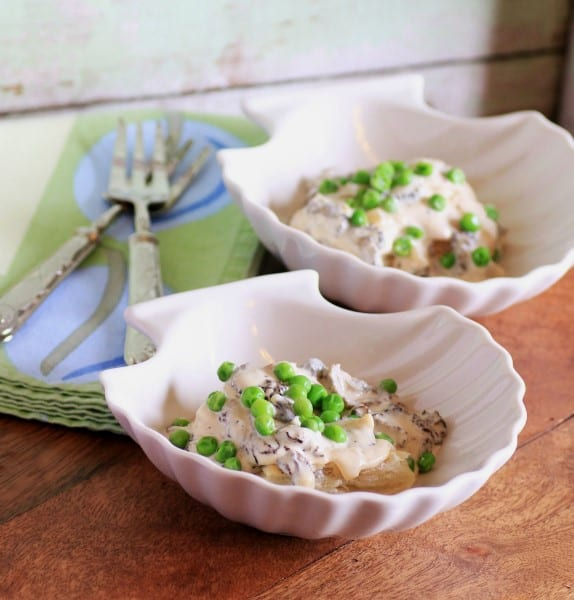 Morels in a Cream Sauce with Sweetlet Peas6 (Custom)