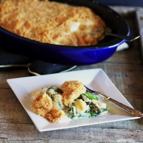 Asparagus and Eggs in Mornay Sauce (3)