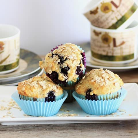 Blueberry muffins with Pure Via Stevia