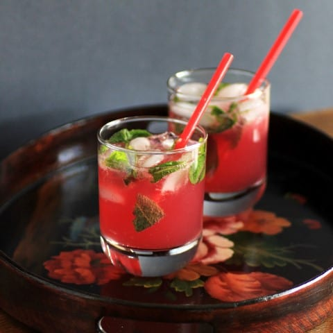 Vanilla Pomegranate Mojitos 2