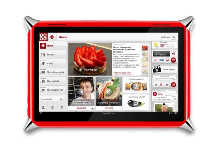 qooq-a-plat-en tablet with the color screen on