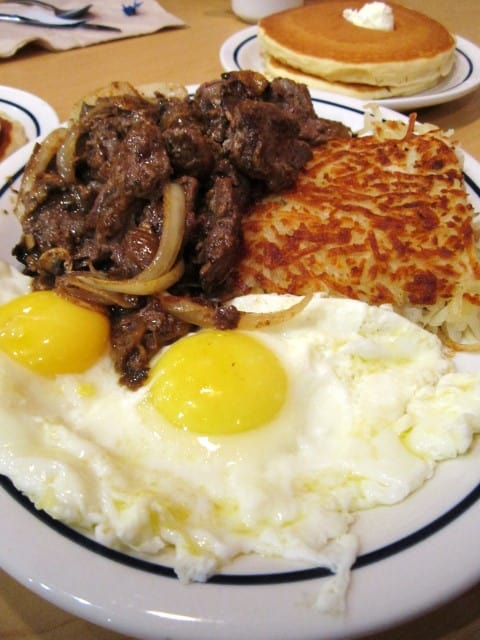 IHOP Sirloin Tips and Eggs