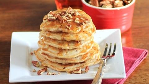Pecan Apple Oatmeal Flapjacks