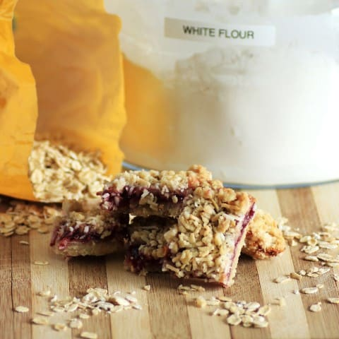 Raspberry Coconut Oatmeal Bars (Small)