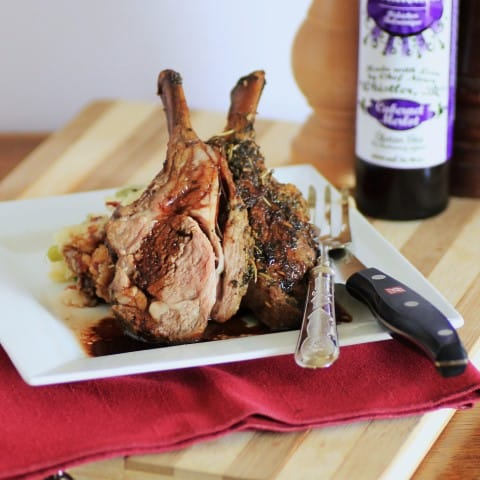 how to cook a small rack of lamb