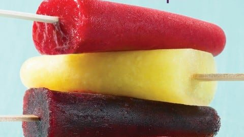 Strawberry Lime Ice Pops