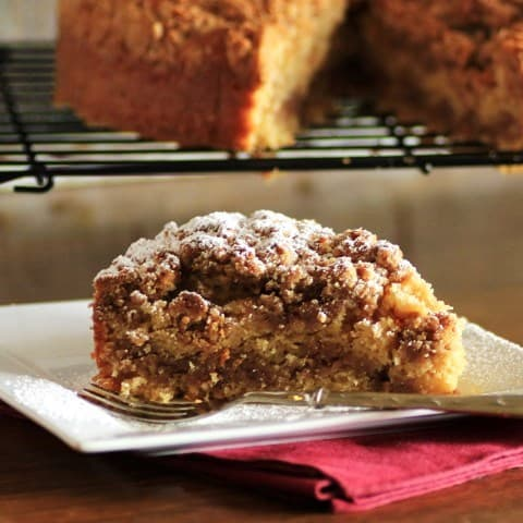 Maple Syrup Pecan Coffeecake by Noshing With Teh Nolands