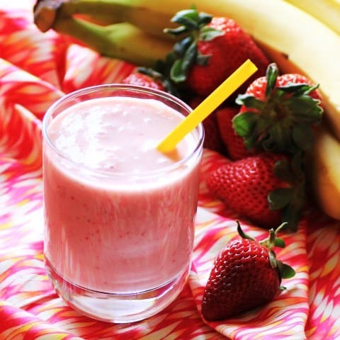 Strawberry Banana Smoothie 4