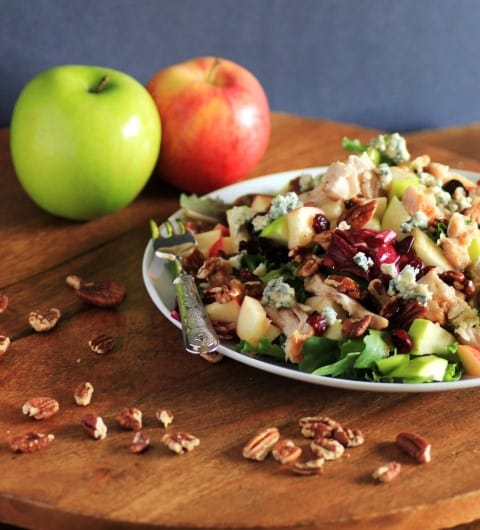 Copycat Wendy's Apple Pecan Chicken Salad- 17 Healthy Salads That Don't Taste Like Rabbit Food. serenabakessimplyfromscratch.com