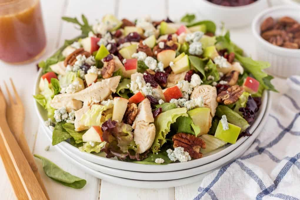 Copycat Wendy's Apple Pecan Chicken Salad on a plate