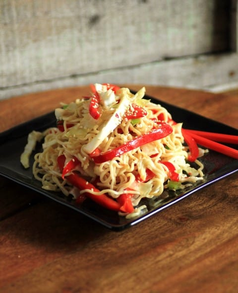 Sesame Noodles with Napa Cabbagge