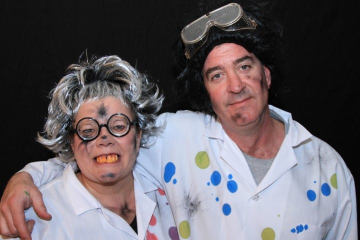 Dressed up a mad scientists for Halloween
