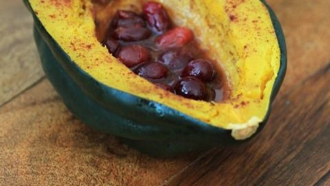 Acorn Squash With Cinnamon and Cranberries for Squashin' Winter #SundaySupper