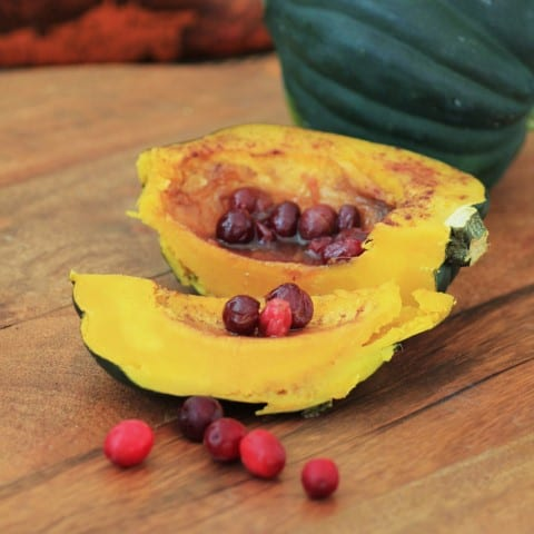 Acron Squash with Cinnamon  and Cranberries (Small)