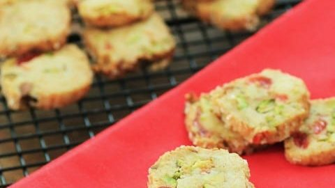 Cherry Pistachio Ice Box Cookies for Creative Cookie Exchange