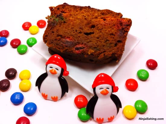 M & M Chocolate Pumpkin Loaf4