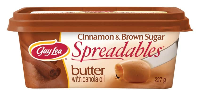 Gay Lea Spreadables Cinnamon butter package