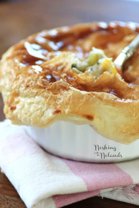 Individual Puff Pastry Chicken Pot Pies by Noshing With The Nolands
