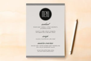 Minted Menu