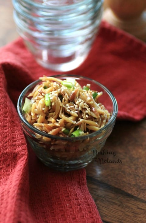 Sesame Orzo by Noshing With The Nolands