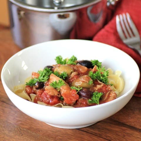 Slow Cooker Chicken Cacciatore #WeekdaySupper