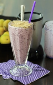 Blueberry Smoothie with Healthy Crumble Topping